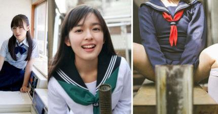 5個2017日本女高中生最流行「櫻花妹必備拍照密技」!#7「M字腿」臉讓人超硬!(16張)
