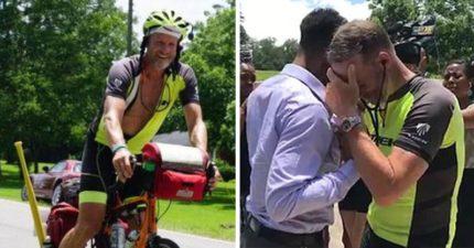爸爸騎2000公里腳踏車只為「聽女兒的心跳聲」,聽見「女兒活在他體內」後忍不住狂哭!