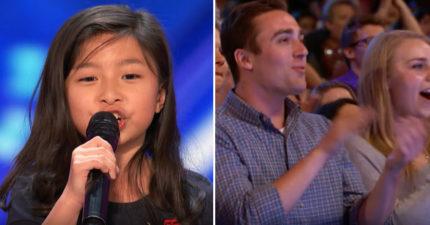 9歲小女生挑戰超難席琳·迪翁「My Heart Will Go On」讓老外看到亞洲人的厲害,2:30 超感動全場起立!(500萬點閱)