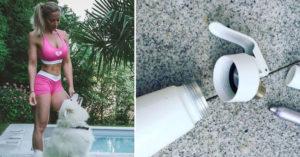 知名健身辣妹在家使用鮮奶油,慘被炸死。