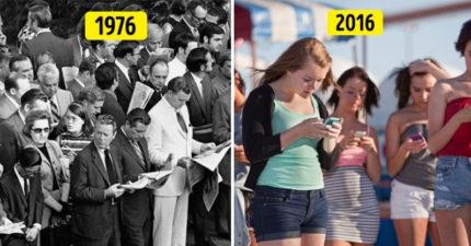 11件證明「以前和現代根本零差別」的生活大小事。40年前就有低頭族!