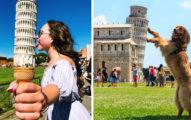 30張會讓人想回去重新拍的「超創意比薩斜塔」照!#9 學起來惡整其他遊客!