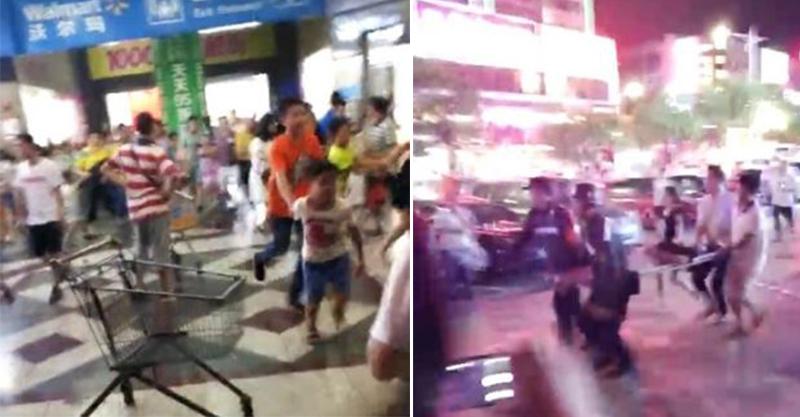 中國驚傳「瘋狂砍人血洗超市」,2死9傷連小孩都不放過!(影片慎入)