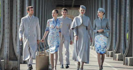 中國航空公司推出超「時尚新制服」,古典時尚完美融合讓其他空服人員考慮跳槽了! (5張)