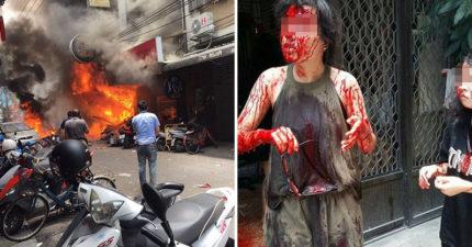 逢甲氣爆議員助裡「拍照打卡」遭公審,女大生「滿臉玻璃全身鮮血」還安慰同學「我沒事、愛你們喔!」。