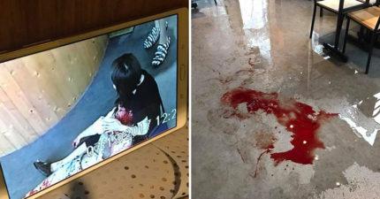 逢甲氣爆傷者「滿身鮮血」站門口求救,韓籍型男老闆開放餐廳當「緊急避難所」還送餐飲給警消。
