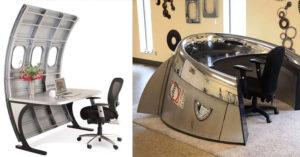 30款會讓你想去偷飛機的「超帥廢棄飛機零件」家具! #16 是炸彈做的酒櫃!