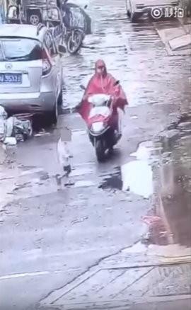 懷孕女騎士撞倒3歲男童「前輪直接輾過」,逃逸時「後輪再輾一次」揚長而去。(影片)