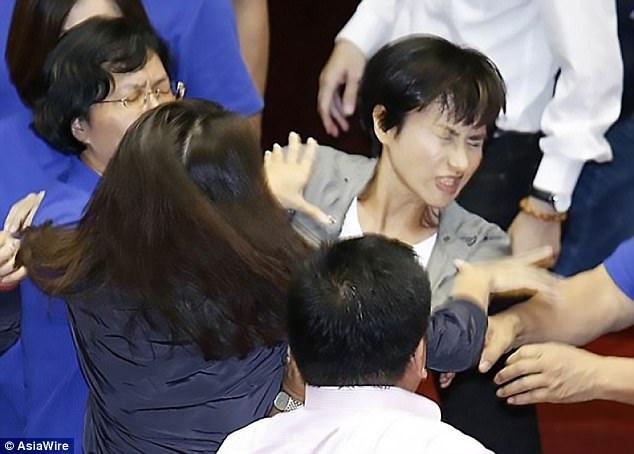 台灣立委大打出手,登上國外頭條「變國際大笑話」!網質疑:最自由的國家是這樣的嗎?