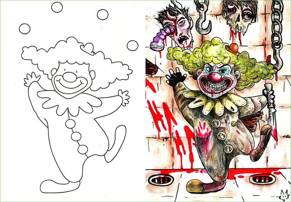 23張「兒童著色本給大人畫」照片,證明人長大內心都是變態的...