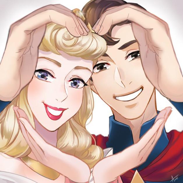8張會讓大家找另一半馬上來拍的迪士尼情侶「閃到爆愛心手勢」!#6 小美人魚「快這樣打卡」!