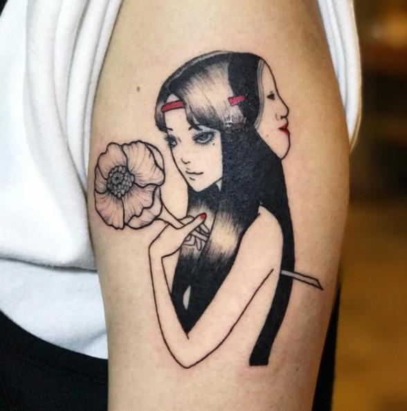 12個從恐怖漫畫《富江》誕生的「超美又嚇人」刺青!