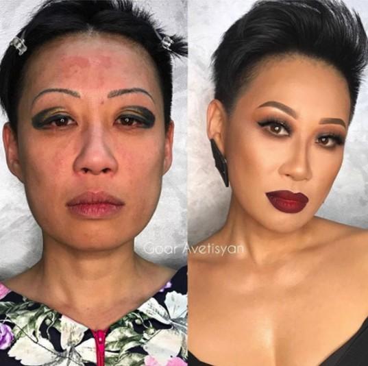20張化妝前後照,證明女人是最不能相信的生物!