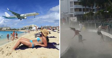 57歲女不聽勸「硬要看飛機起飛」,「直接炸噴飛」當場爆頭慘死。(案發影片)
