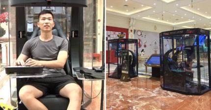 中國賣場貼心設「老公寄存艙」讓男生免陪逛,「超豪華迷你私人網咖」讓女生都怒了!