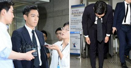 T.O.P在呼麻案後首度露面上法庭,「看到他的妝」網友:「他壞掉了嗎...?」