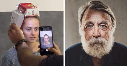 他用了麥當勞「大麥克的盒子」就拍出了只有專業器材才能拍出的專業級肖像照! (11張)