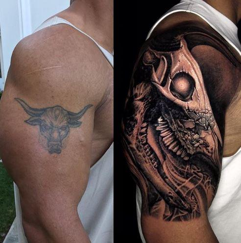 巨石強森花22小時改造右臂小公牛刺青!「超帥巨大猛獸」骨頭上裂痕背後意義感人!(3張)