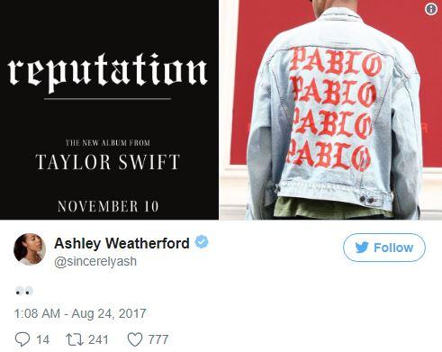 泰勒絲新專輯《名譽》曝光粉絲爽翻,但封面「3大細節」明顯在狠諷金卡達夏和肯伊·威斯特!