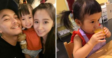 迷你可愛版方志友!2歲Mia擁有「韓妞眉毛」,更散發出「天生童星」氣息!