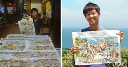 18歲新北市高中生用超美「馬祖風景彩繪畫作」換宿,不花一毛錢遊遍馬祖!