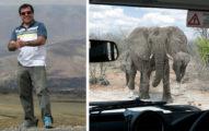 大象看到想殺他的獵人,直接衝過去把他殺了!