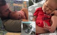 這雙「超級襪子」拯救了他一命!寶寶心率「每分鐘跳動260次」嚇壞父母。