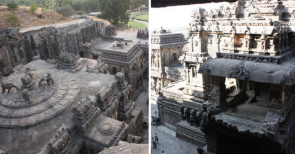 印度最扯神廟!整個建築花18年「由一塊巨石開鑿出來」細節精緻到哭!