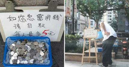 他們在中國街頭放置一箱零錢「讓急需的人自取」,實驗結果出乎意料!