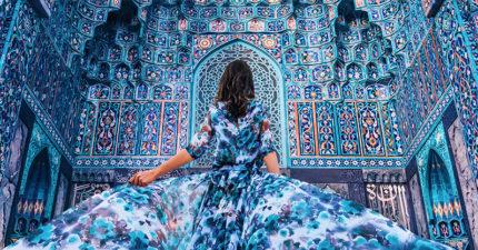 攝影師環遊世界拍下「跟背景完美融合」的驚世美人。(17張)
