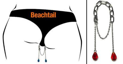 給鮑鮑的時尚精品!女生私密處胯下鍊「2顆珠寶掛在兩腿間」超時尚!