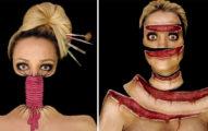 26張會讓人不敢相信自己眼睛的超強「美妝緊縛、扭曲」人體彩繪!