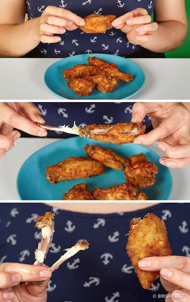 14種你再繼續做錯就要笨死的「讓生活便利度N倍」正確應用小技巧。#9 平常的雞翅吃法都錯了!