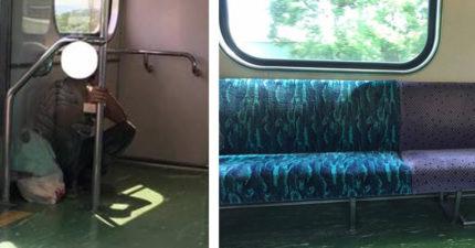 火車滿滿空位卻不敢坐,一張照片看出工人的心酸...