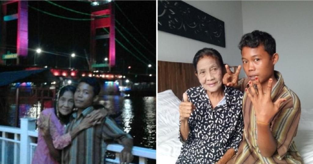 印尼16歲少年不顧家人反對「娶71歲阿嬤」!阿嬤太美囚禁起來不讓別的男人來泡!