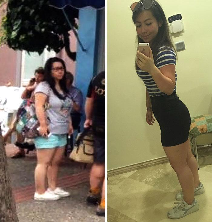 147公分64公斤小胖妞只敢穿短褲,2招瘦下來「傲人前凸後翹」朋友認不出來!