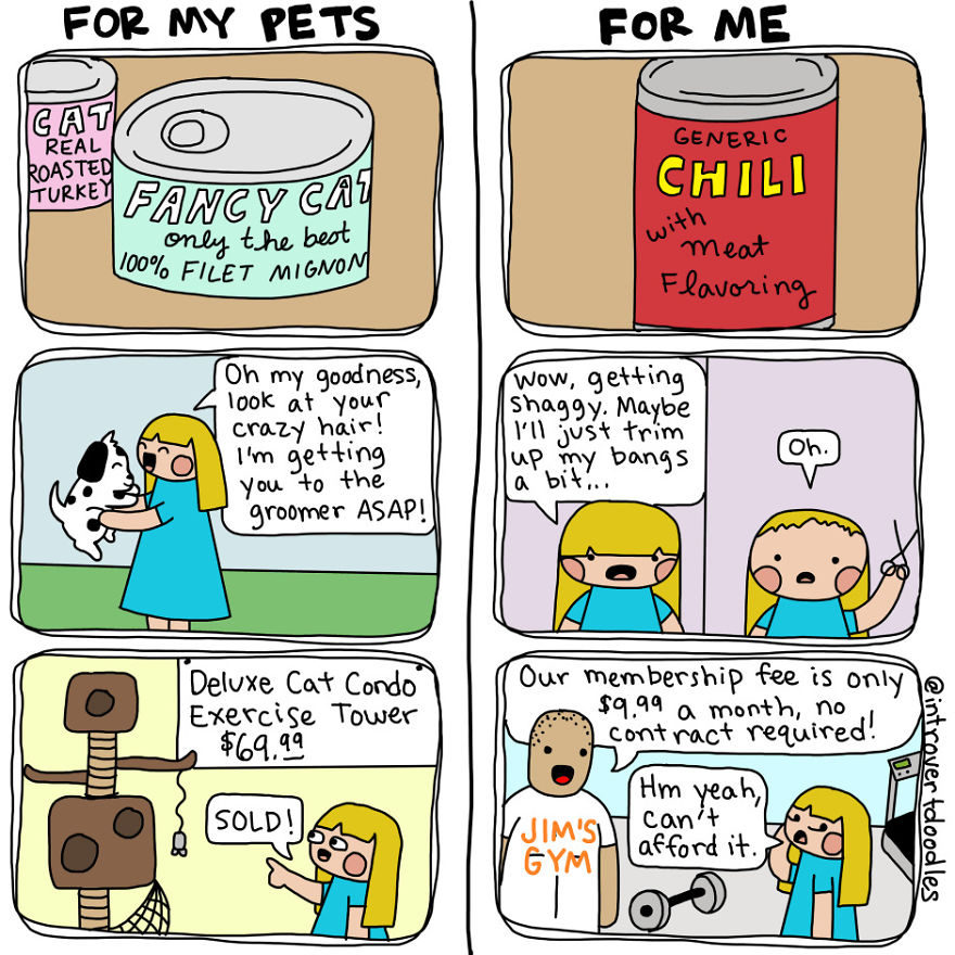 10張證明「有毛小孩的人比普通人快樂」爆笑溫馨日常漫畫。