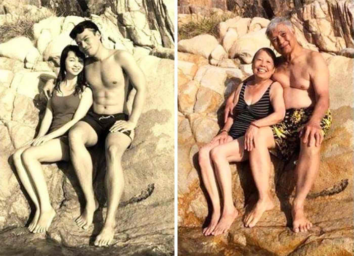 15張青梅竹馬「重現當年戀愛舊照」,證明「舊愛還是最美」!