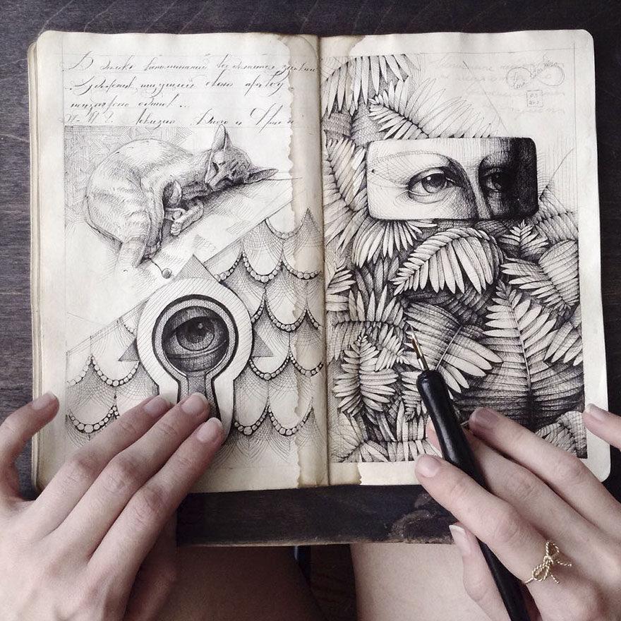 翻開她的筆記本,全網都嚇到了!#31 她的本人比畫更吸引人!
