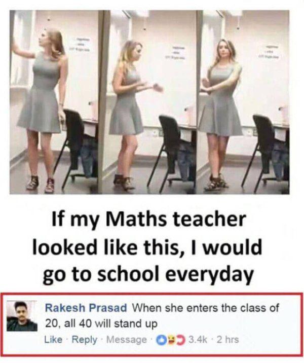 27張可以滿足你各種「髒髒思想」的爆笑照片!#8 這種老師讓20人的班有40人報到...