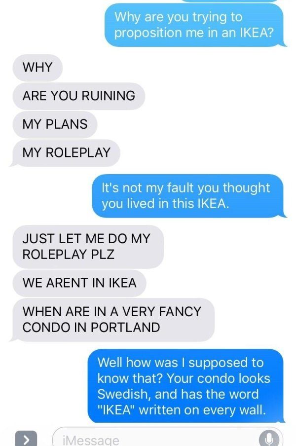 他跟女子進行「色色角色扮演」,結果被IKEA狠狠搞砸!