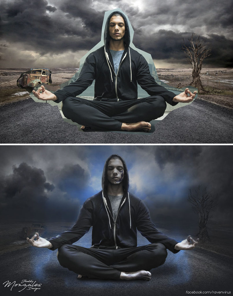 他把很多不同的小圖丟在一起後「用神級PS功力」修成夢幻般的超現實照片! (7張)