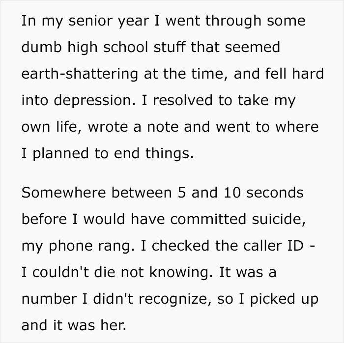 他就要自殺電話響了,5年沒聯絡的她:「我感覺必須打來」...現在他們結婚了!