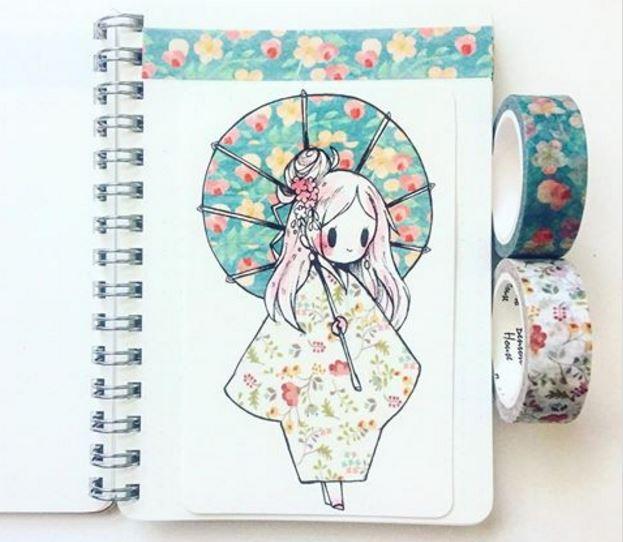 藝術家用「超美紙膠帶」為可愛娃娃穿上新衣!#5 小美人魚系列女生會超愛!(11張)