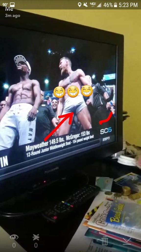 UFC跟拳擊界的歷史性世紀對決,量體重時麥葛雷格激動到「GG一柱驚天」超大根5公分就頂到他!