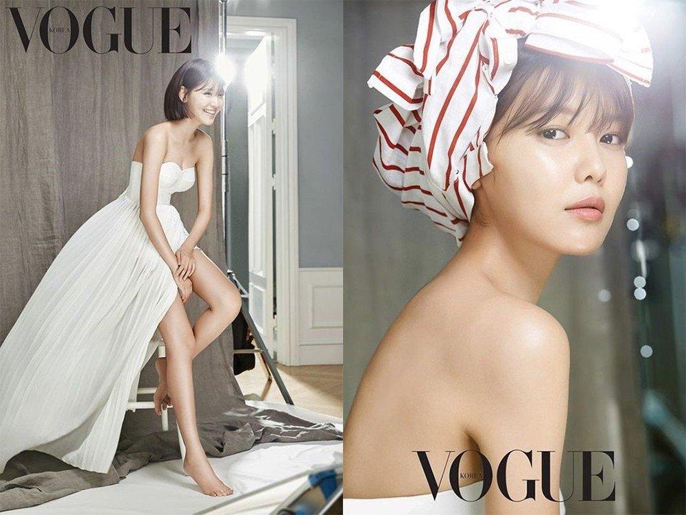 「少女時代」秀英跟Vogue拍「人生大事」作品,「超長美腿」美到讓網友都改觀了!