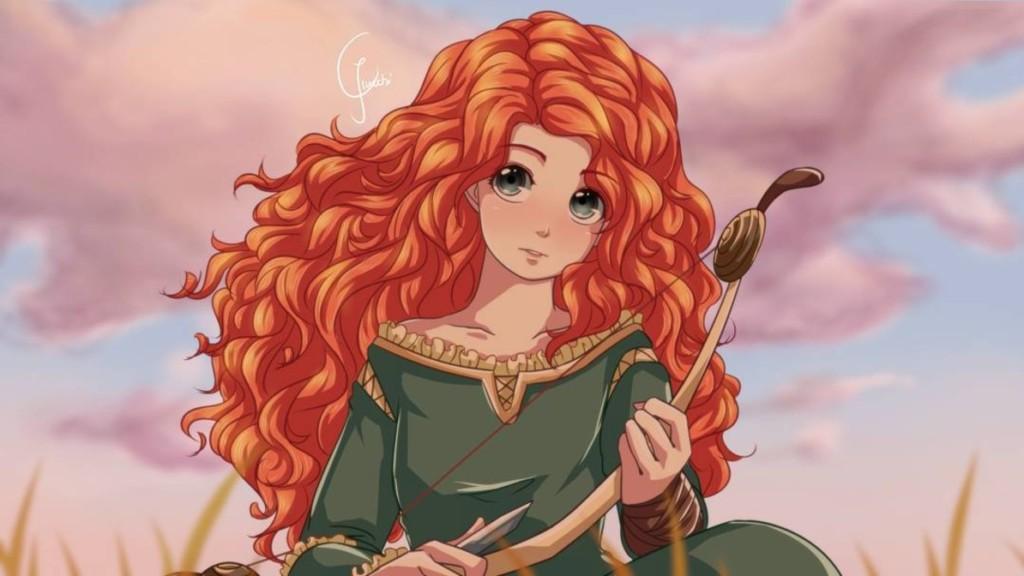 最讓人害羞的「少女漫畫風」迪士尼公主!#2 花木蘭讓人不小心跟著「純情害羞」了! (17張)