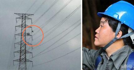 當官員還在互罵「大停電日」時,這些台電人員卻頂38度高溫「在為全台灣人默默努力!」