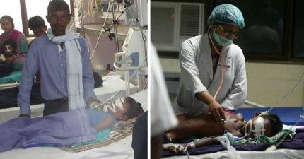 因收不到錢,印度醫院遭切斷氧氣「64病童窒息慘死」,政府解釋:蚊子咬死的。
