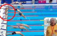 槍響後游泳選手「不肯跳水」獨自站了1分鐘,「放棄贏得金牌原因」會讓你起身為他鼓掌!(影片)